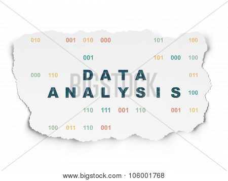 Data concept: Data Analysis on Torn Paper background
