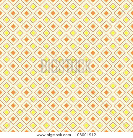 Abstract geometric diamond shape seamless pattern, vector