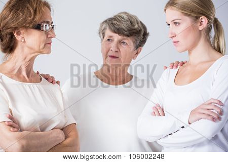 Conflict Between Mother And Daughter