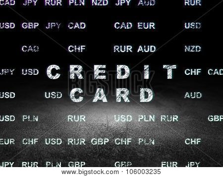 Money concept: Credit Card in grunge dark room
