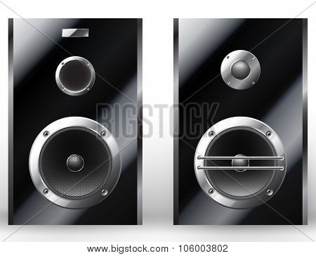 Realistic illustration of a modern audio speakers. Vector illustration