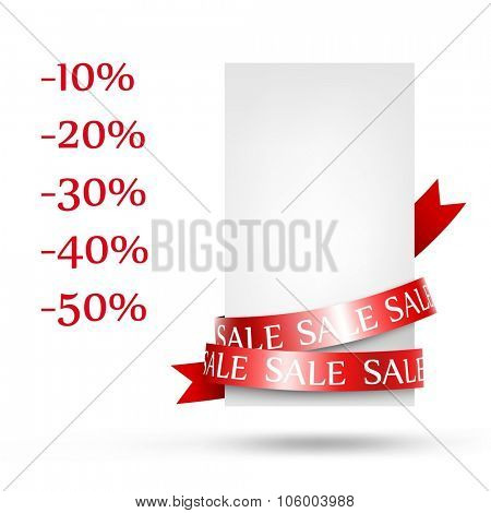 Blank sale tag. Vector illustration