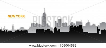 New York Cityscape With Shadow