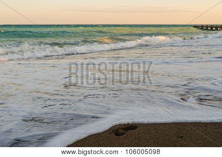 Landscape with beautiful Black Sea resort coast