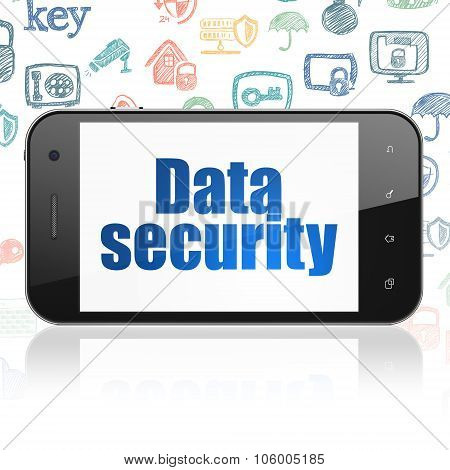 Privacy concept: Smartphone with Data Security on display