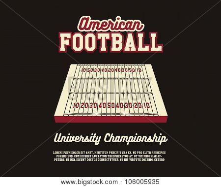 American Football university championship layout template. Usa Sports background. Can be use for bro