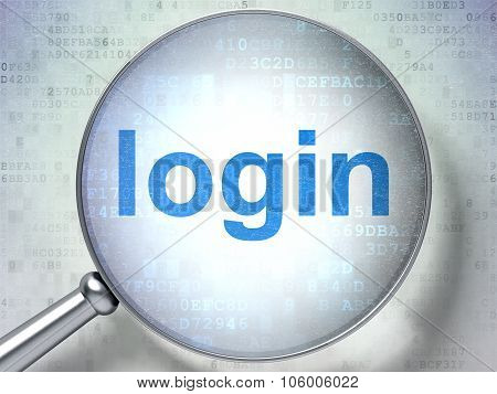 Security concept: Login with optical glass