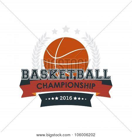 Basketball championship emblem vector