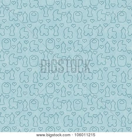 Green Baby Tile Pattern Repeat Background