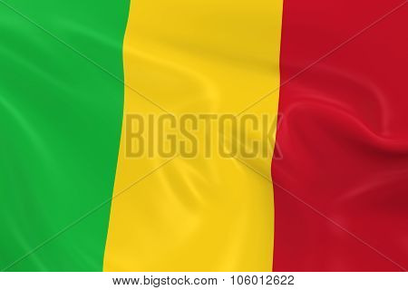 Waving Flag Of Mali - 3D Render Of The Malian Flag With Silky Texture