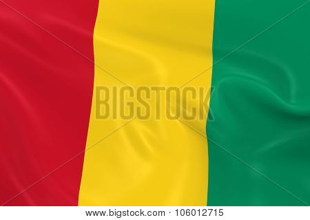 Waving Flag Of Guinea - 3D Render Of The Guinean Flag With Silky Texture