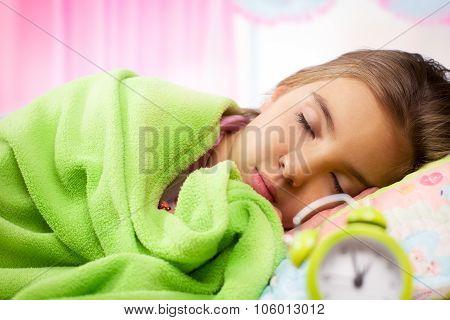Adorable little girl sleep