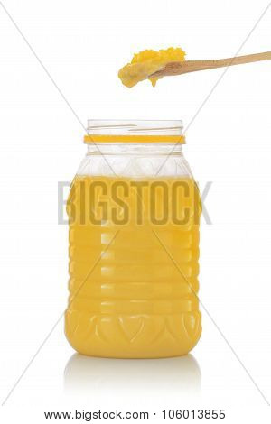 Jar Of Pure Indian Ghee With Spoon