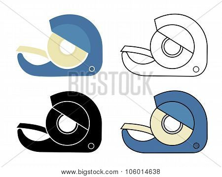 Scotch tape icons set
