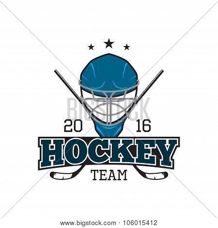 Vector Label Of Hockey Team