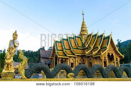 Wat Phra Buddhabart Si Roy in chiang mai , thailand