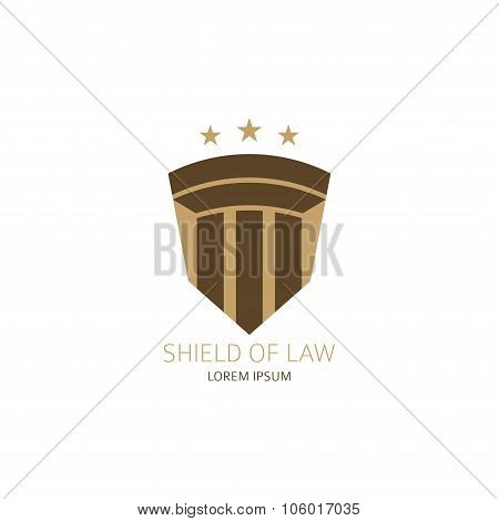 Lawyer Logo With Greece Column