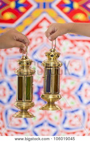 Hands With Ramadan Lantern