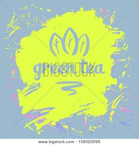 Green tea logo.