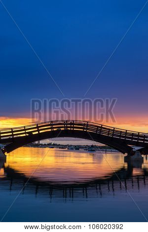 Bridge on the Ionian island of Lefkas Greece