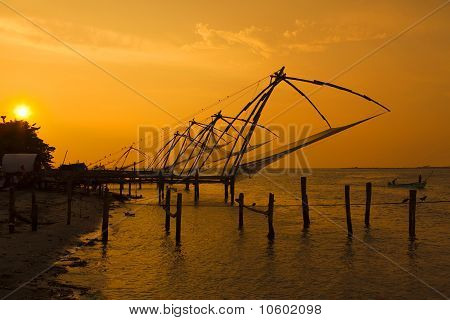 Chinese fishing nets - Fort Cochin.