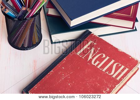 Learning English. Education Concept
