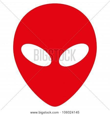 Alien Head Flat Icon