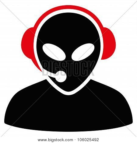 Alien Call Center Flat Icon