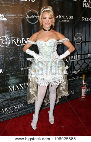 LOS ANGELES - OCT 24:  Peta Murgatroyd at the MAXIM Magazine's Official Halloween Party at the Private Estate on October 24, 2015 in Beverly Hills, CA