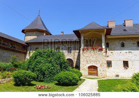 Sucevita Romania July 06 2015: Sucevita Monastery one of the famous painted monasteries in Romania U