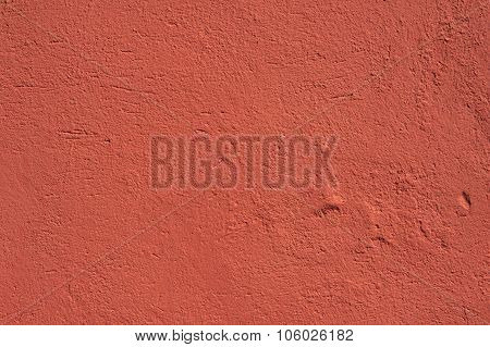 Texture Of Old Wall Covered With Red Stucco