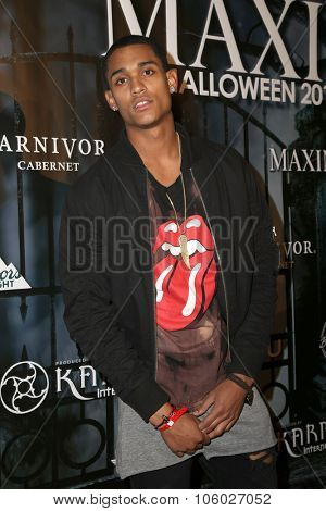LOS ANGELES - OCT 24:  Jordan Clarkson at the MAXIM Magazine's Official Halloween Party at the Private Estate on October 24, 2015 in Beverly Hills, CA