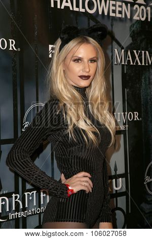LOS ANGELES - OCT 24:  Morgan Stewart at the MAXIM Magazine's Official Halloween Party at the Private Estate on October 24, 2015 in Beverly Hills, CA