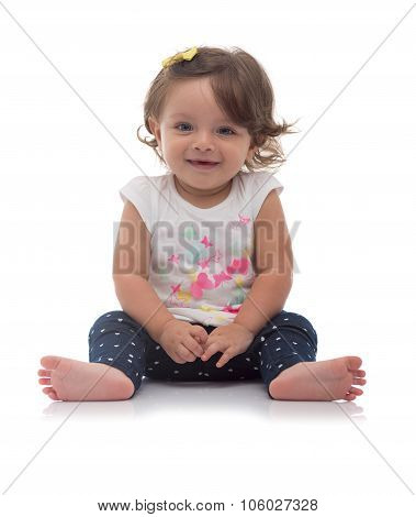 Smiling Adorable Young Caucasian Girl