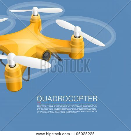Quadrocopter unmanned camera