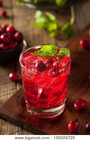 Homemade Boozy Cranberry Cocktail