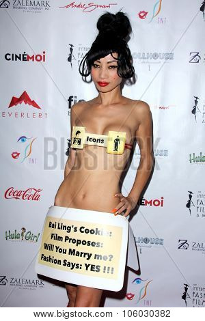 LOS ANGELES - OCT 25:  Bai Ling at the Internation Film Fashion Awards at the Saban Theater on October 25, 2015 in Los Angeles, CA