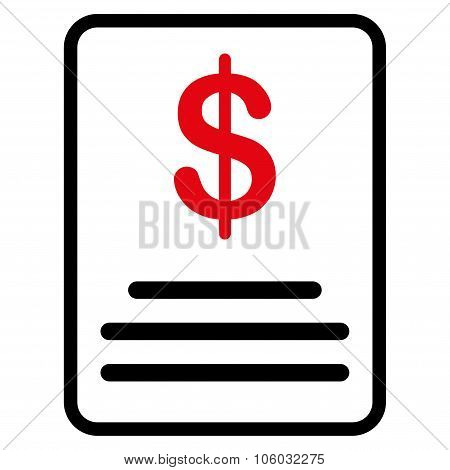 Invoice Budget Icon