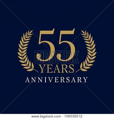 55 anniversary royal logo