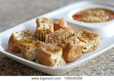 Fried Tofu Or Bean Curd