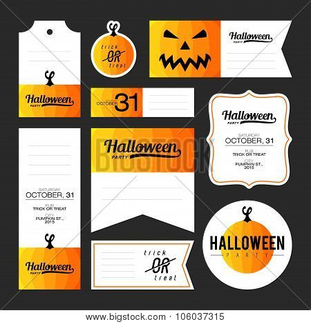 Collection Of Halloween Journaling Cards
