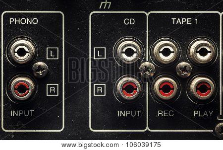 Inputs On An Old Amplifier