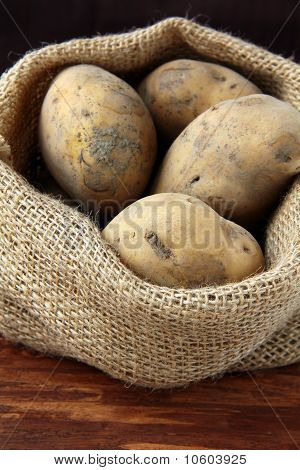 bag of organic potatoes