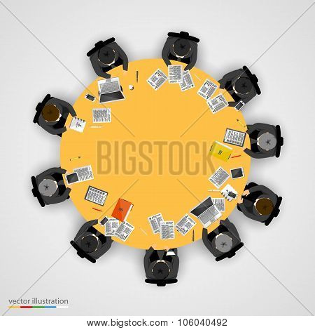 Group of businessman having a meeting
