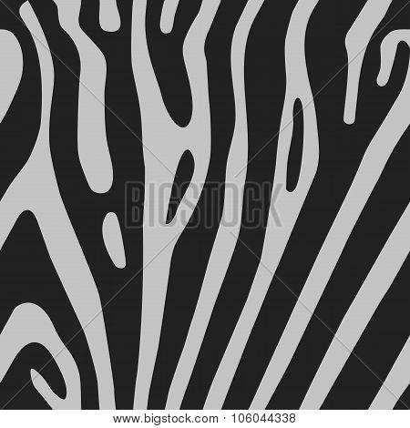 Seamless vector background with Zebra skin