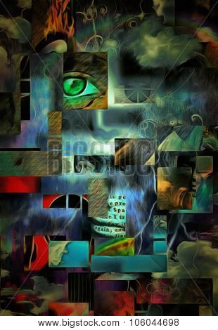Surreal Abstract with Human Fragments This image is entirely my own creation, from my own images and is legal for me to sell and distribute