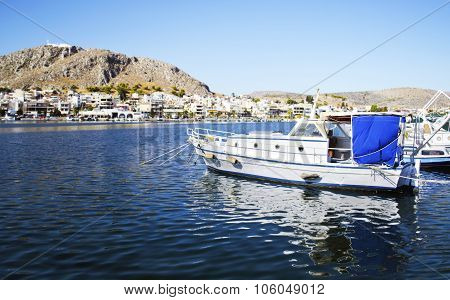 boats in Salamis port Greece
