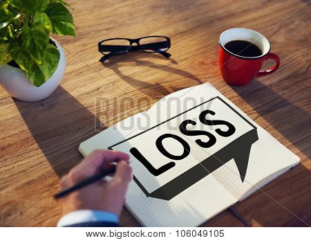 Loss Recession Deduction Financial Crisis Concept