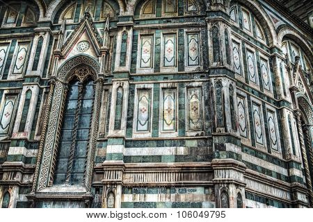 Detail Of Santa Maria Del Fiore Cathedral In Florence