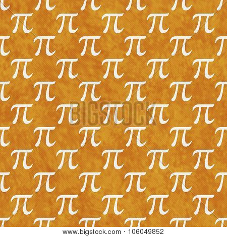 Orange And White Pi Symbol Design Tile Pattern Repeat Background